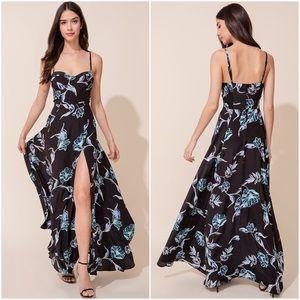 Yumi Kim Get Noticed Silk Maxi Dress